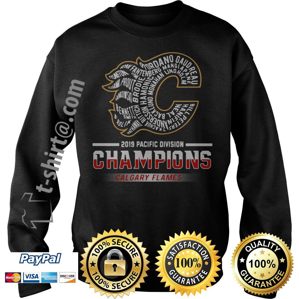 2019 Pacific division champions Calgary Flames Rittich Gaudreau Sweater