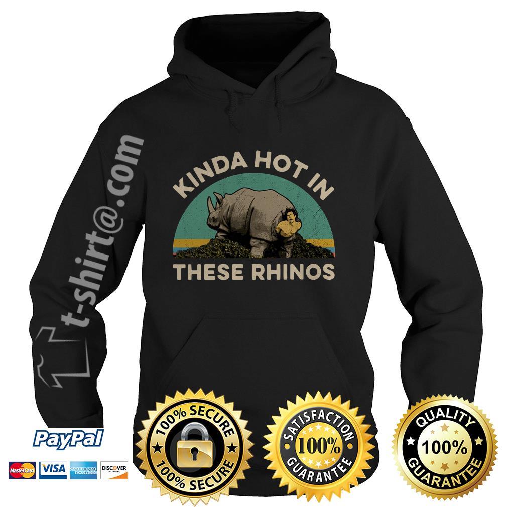 Ace Ventura Kinda hot in these rhinos retro Hoodie