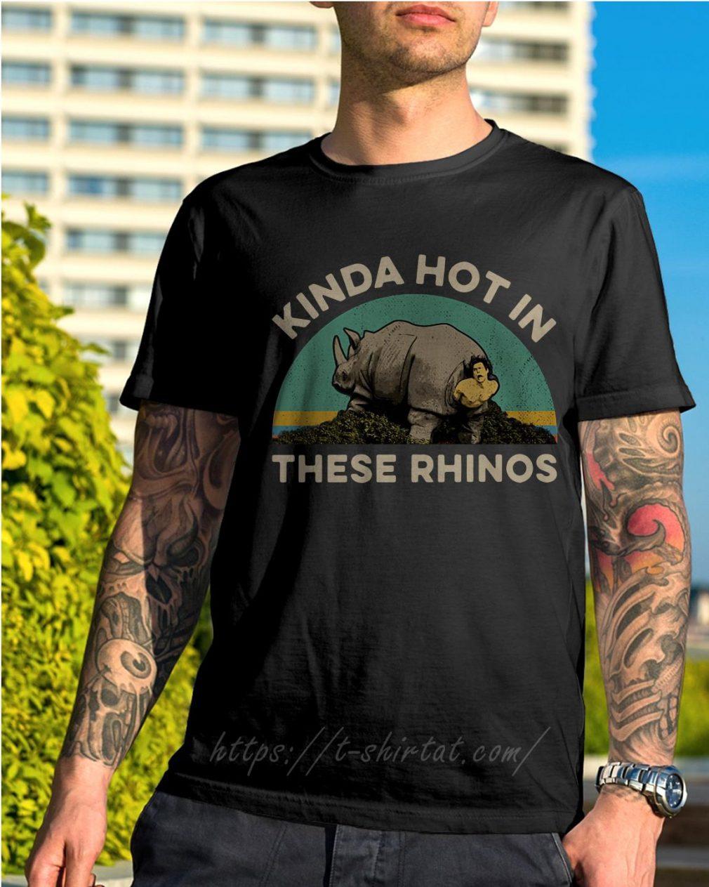 Ace Ventura Kinda hot in these rhinos retro shirt