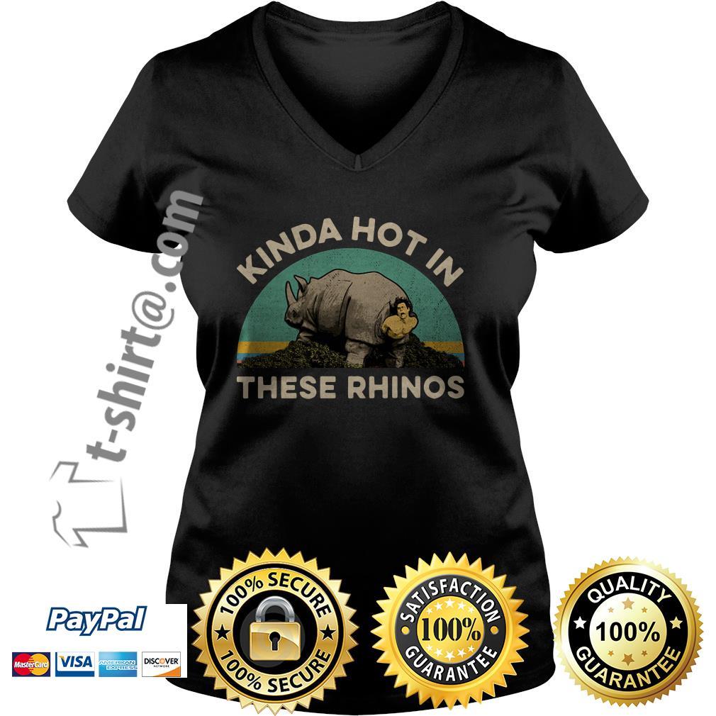 Ace Ventura Kinda hot in these rhinos retro V-neck T-shirt