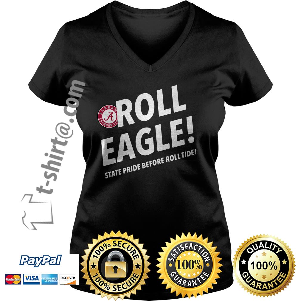 Alabama Crimson Tide roll eagle state pride before roll tide V-neck T-shirt