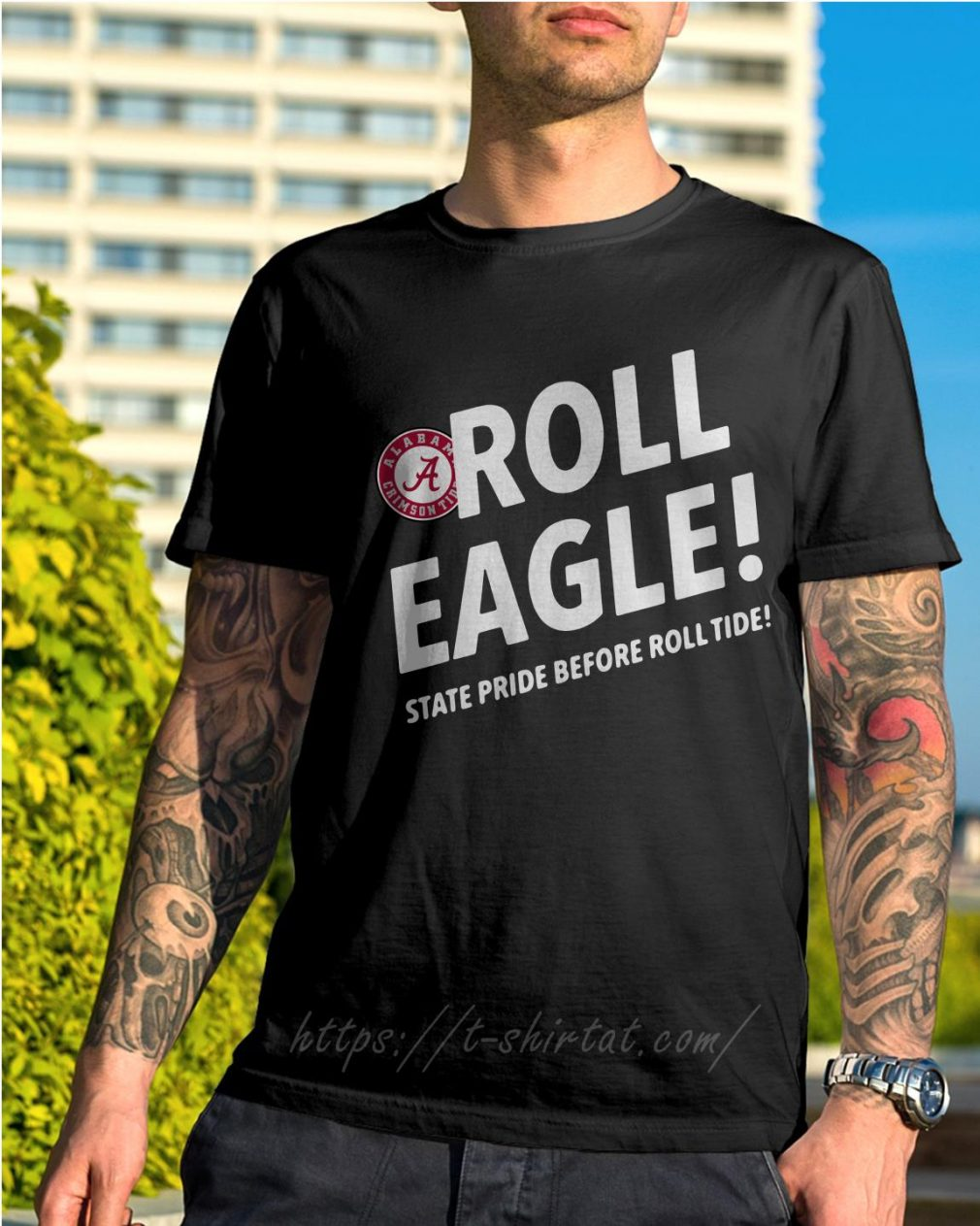 Alabama Crimson Tide roll eagle state pride before roll tide shirt