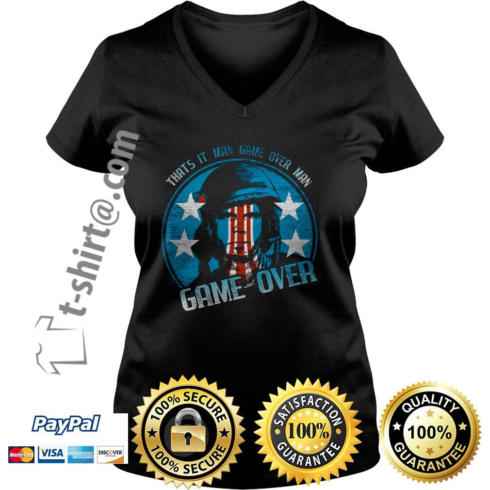 Bill Paxton that's it man game over man game over V-neck T-shirt