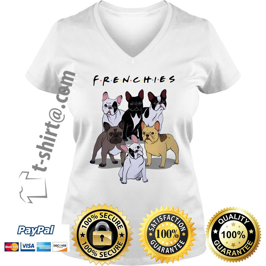 Bulldogs Frenchies friends TV show V-neck T-shirt