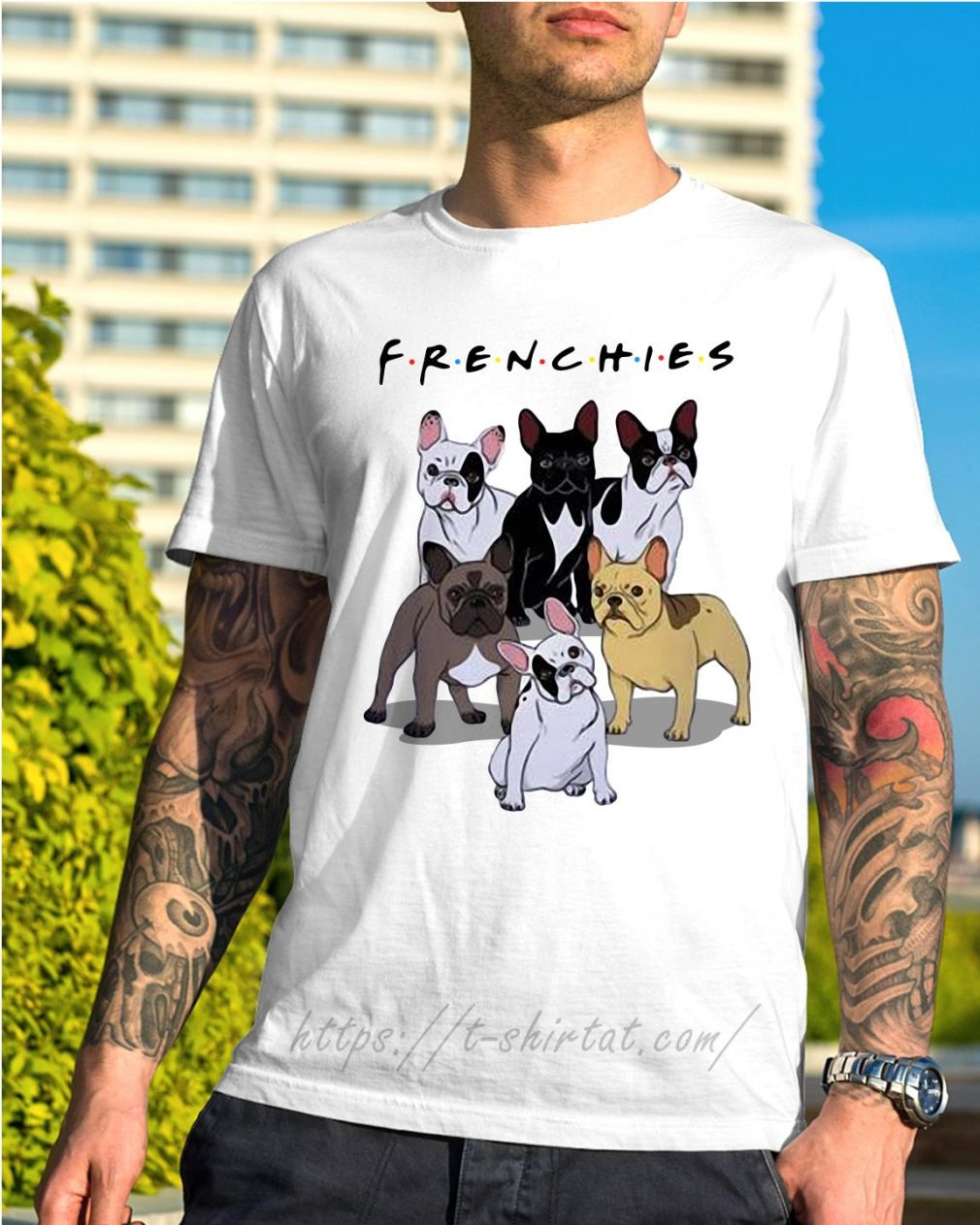 Bulldogs Frenchies friends TV show shirt