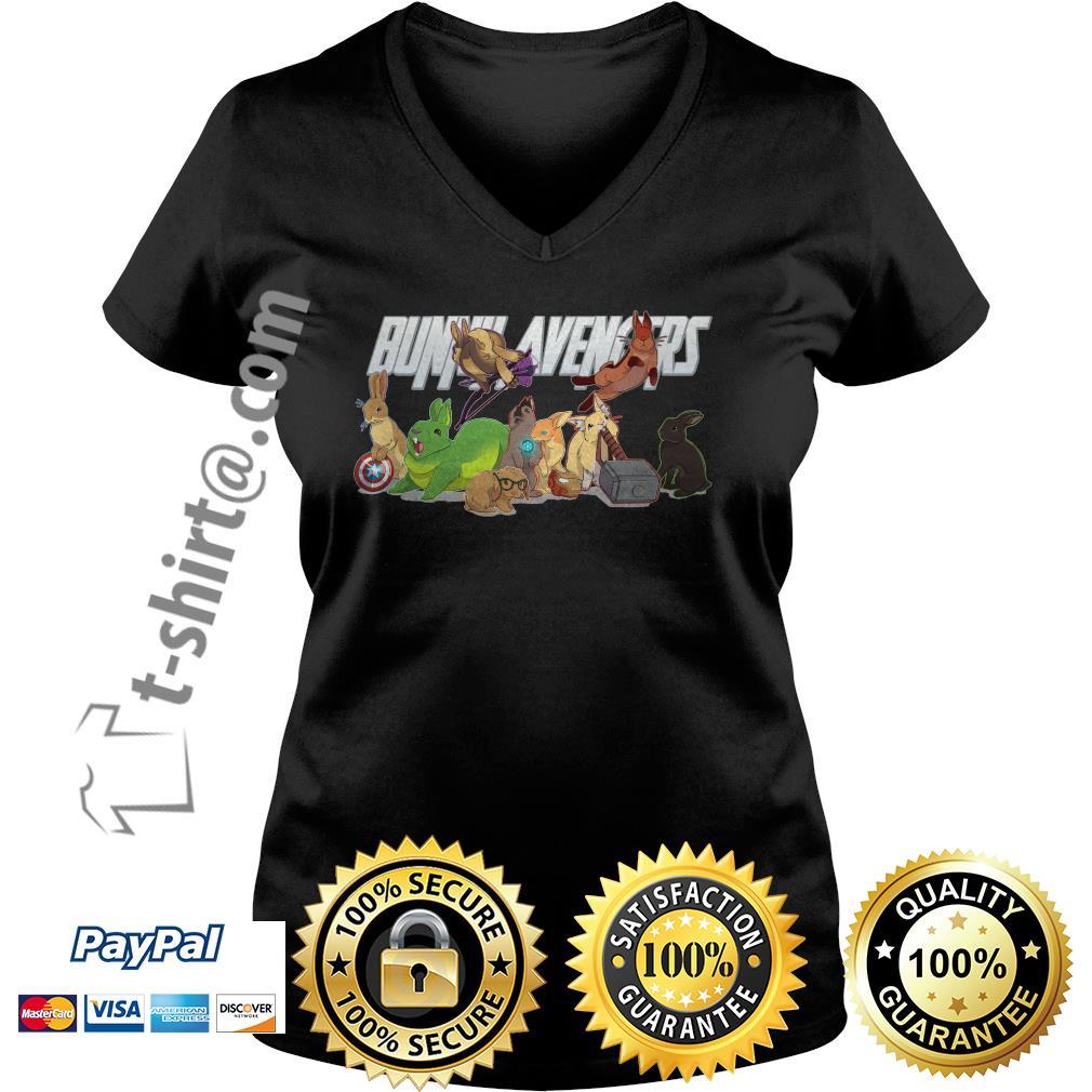 Bunny avengers V-neck T-shirt