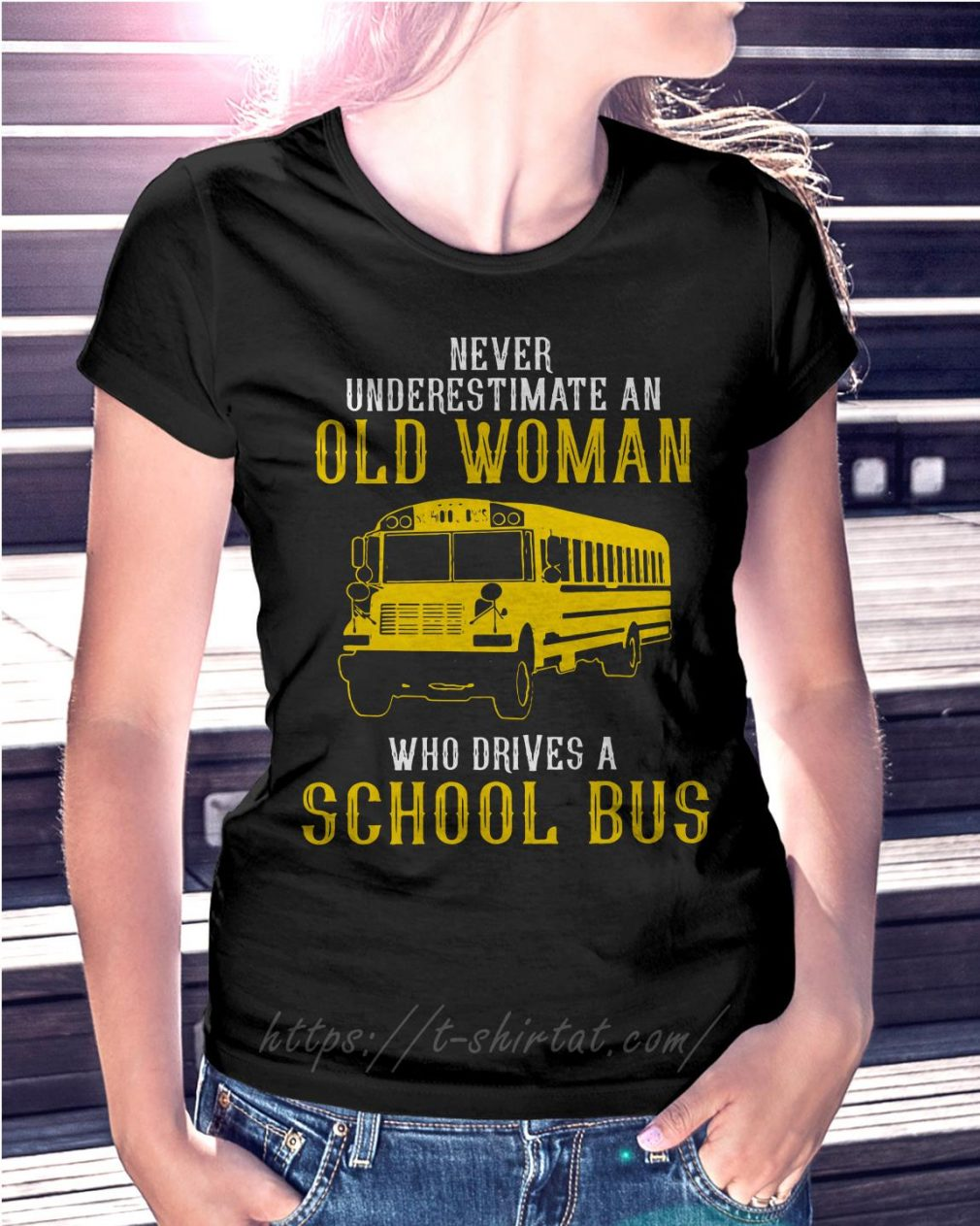 Bus never underestimate an old woman who drives a school bus