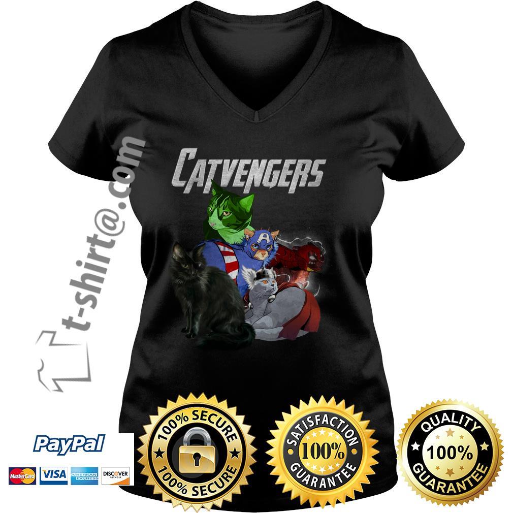 Catvengers V-neck T-shirt