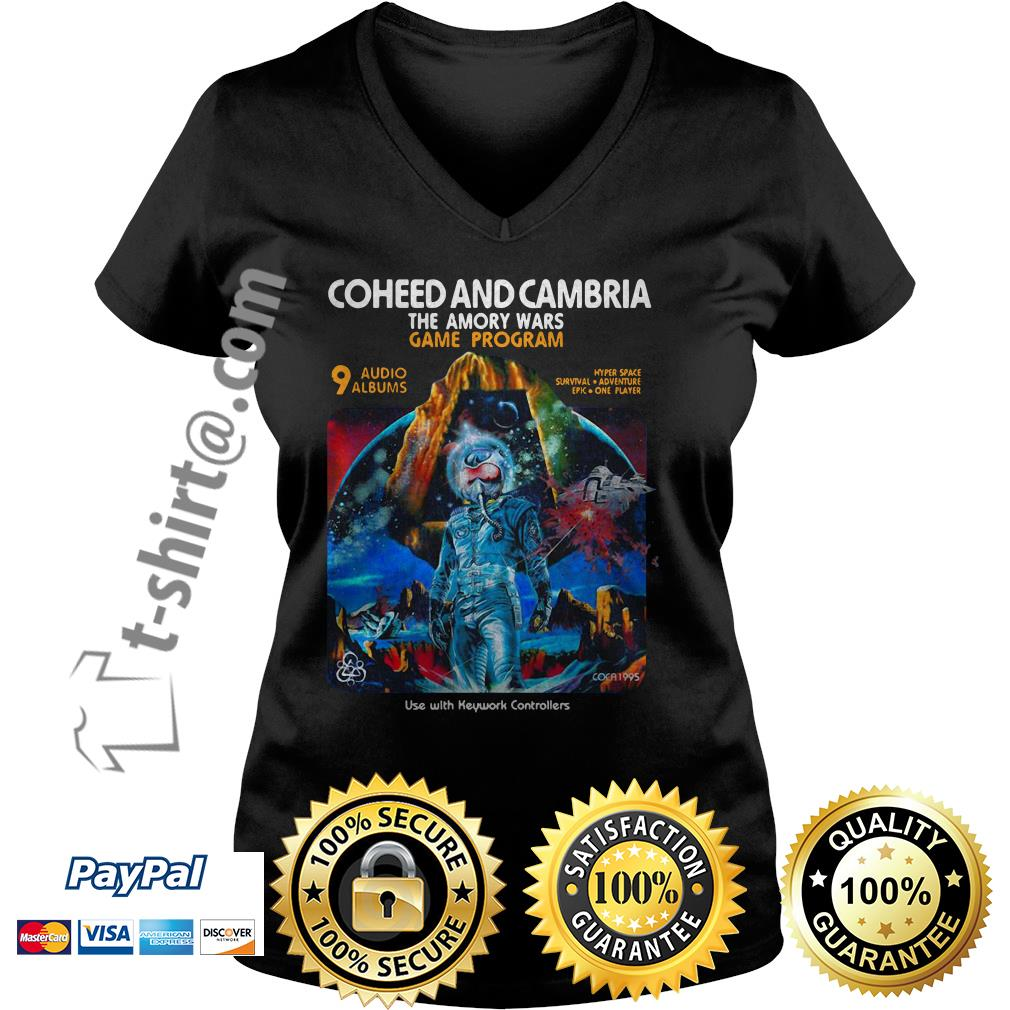 Coheed and Cambria the Amory wars game program use with keyword controllers V-neck T-shirt