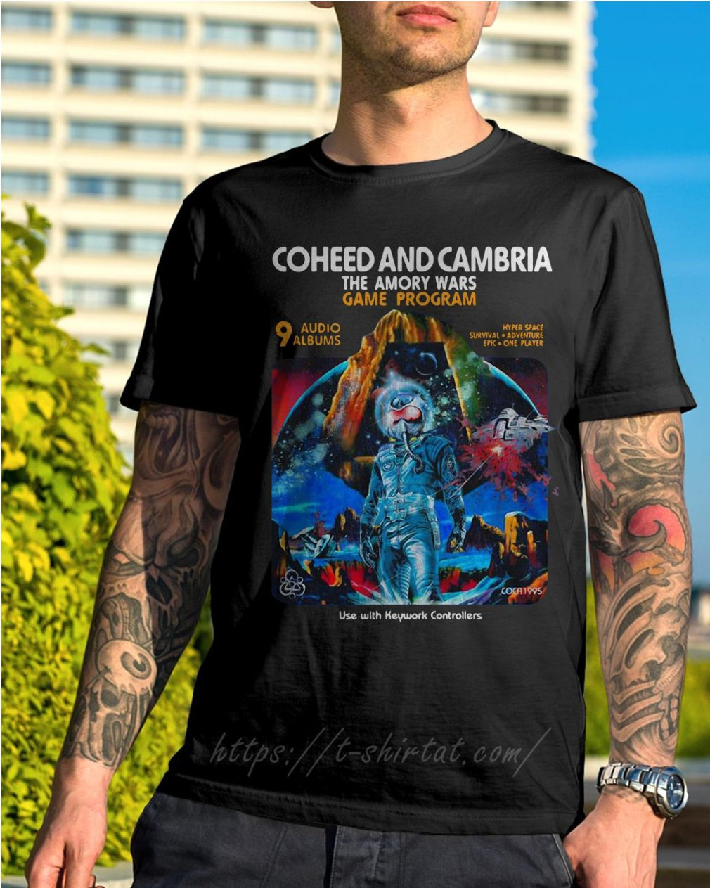 Coheed and Cambria the Amory wars game program use with keyword controllers shirt