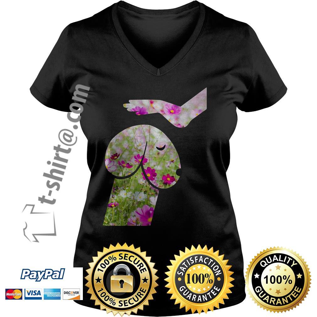 Cosmos seeds dickhead dog noma bar V-neck T-shirt