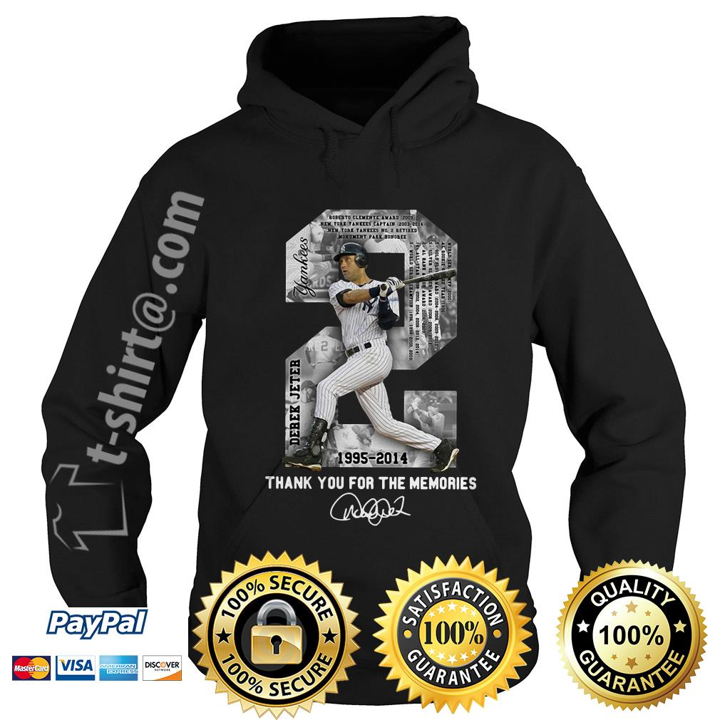 Derek Jeter 1995-2014 thank you for the memories signature Hoodie