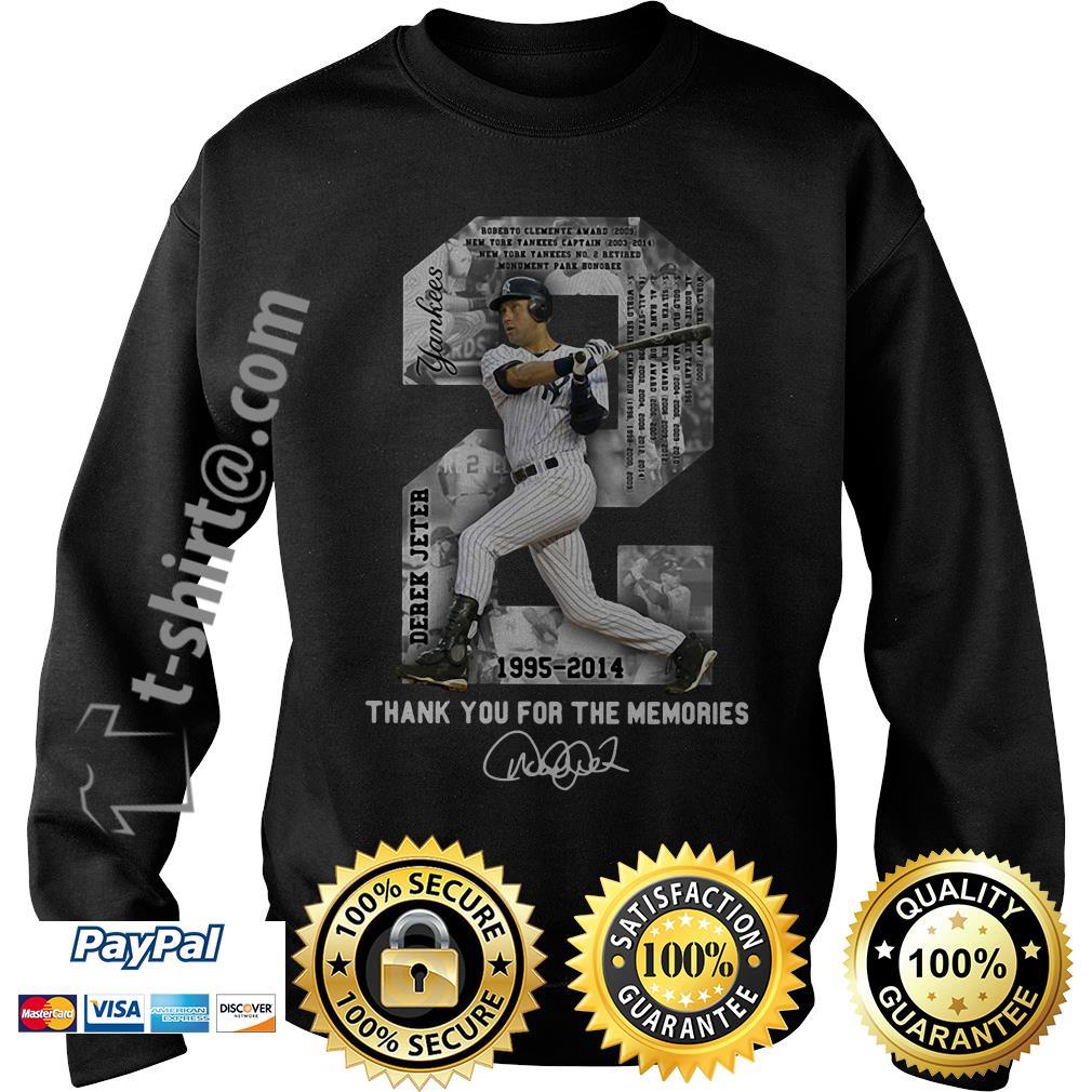 Derek Jeter 1995-2014 thank you for the memories signature shirt