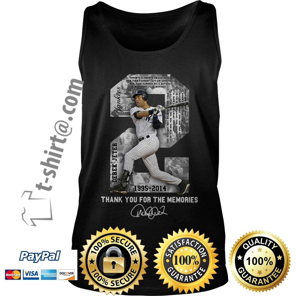 Derek Jeter 1995-2014 thank you for the memories signature Tank top