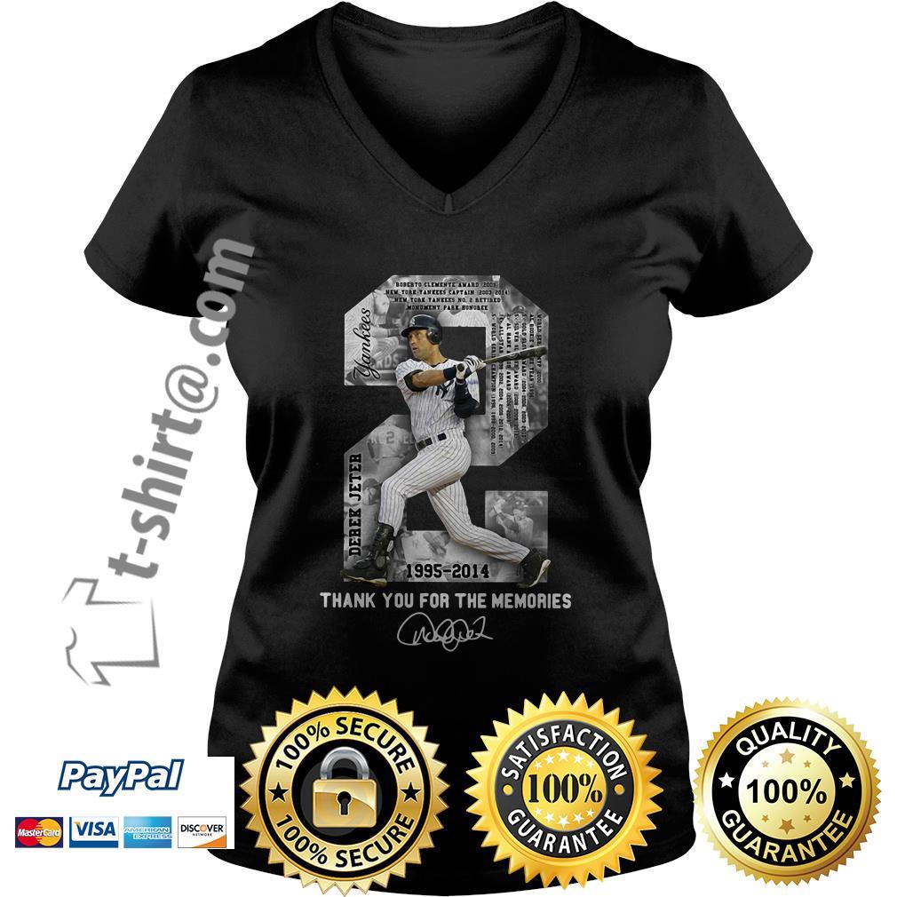 Derek Jeter 1995-2014 thank you for the memories signature V-neck T-shirt