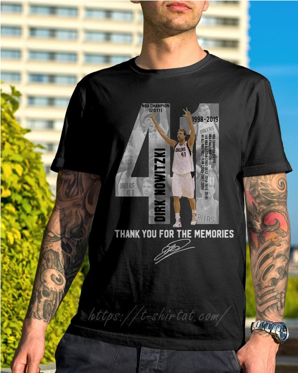 Dirk Nowitzki 1998-2019 thank you for the memories shirt