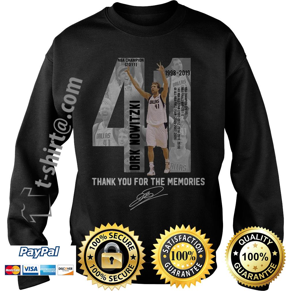 Dirk Nowitzki 1998-2019 thank you for the memories Sweater