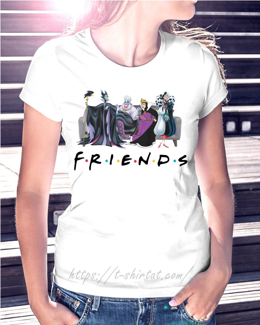 Disney Queens friends Cruella De Vil evil Queen Ursula maleficent shirtDisney Queens friends Cruella De Vil evil Queen Ursula maleficent