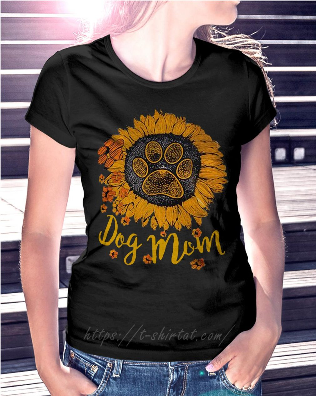 Dog paw sunflower dog mom