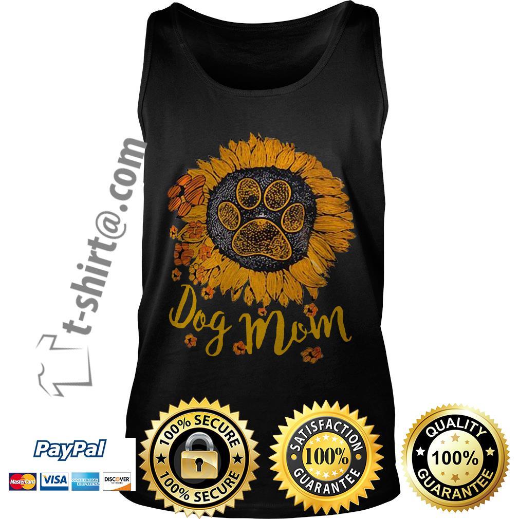 Dog paw sunflower dog mom Tank top