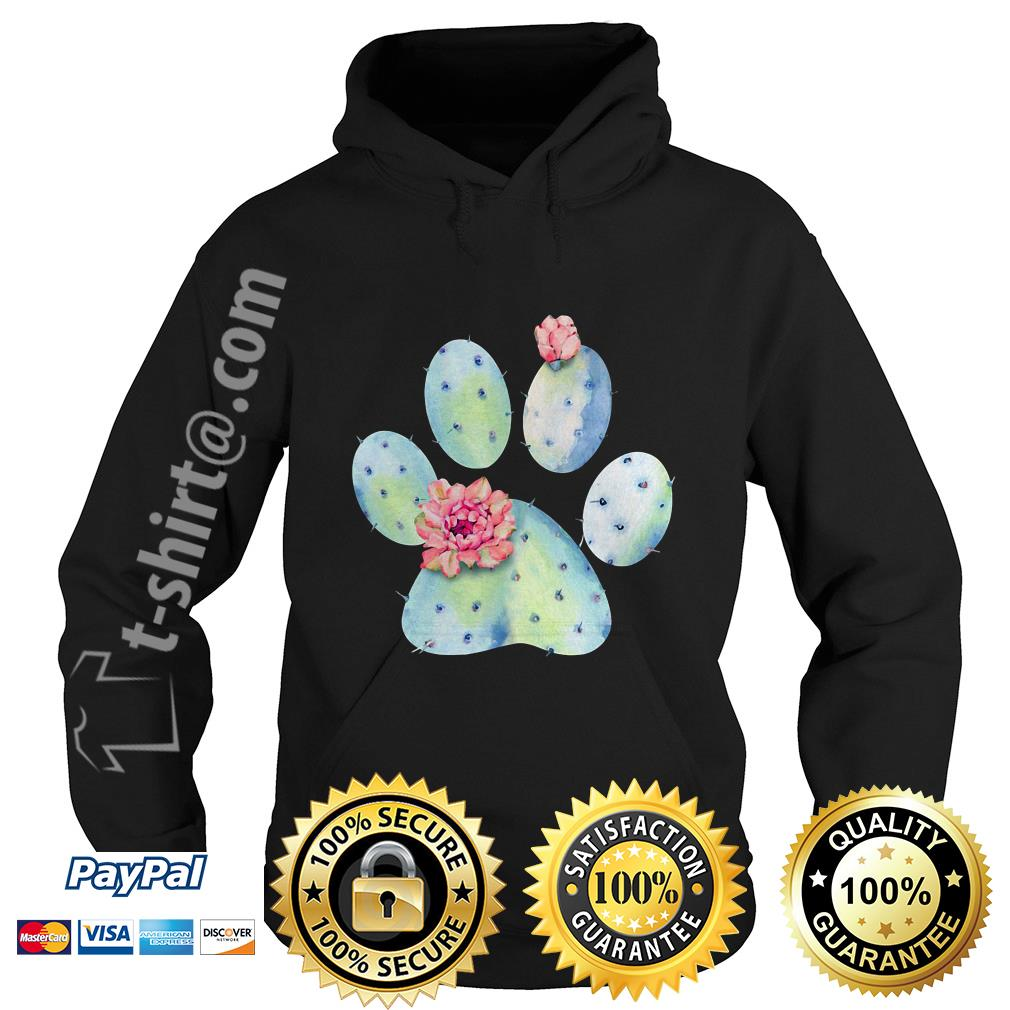 Dog paws cactus and flowers Hoodie