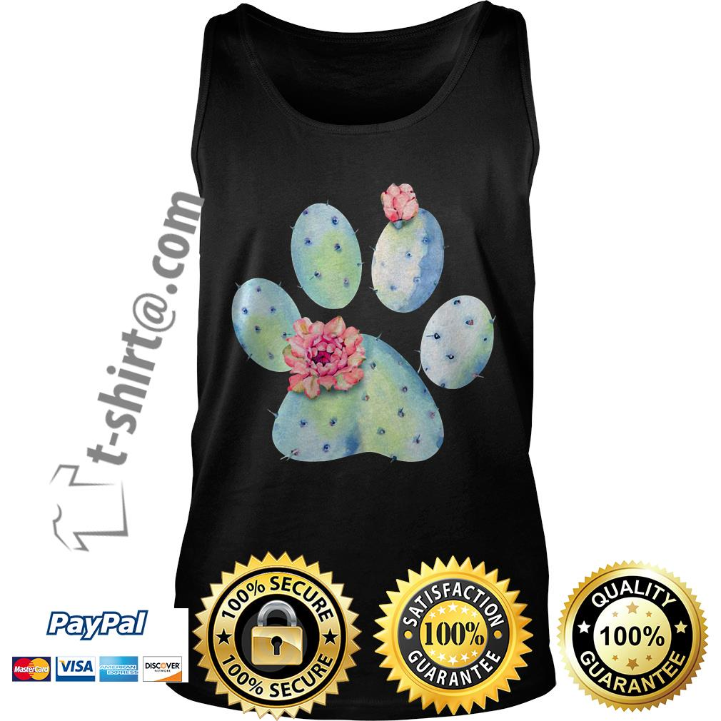 Dog paws cactus and flowers Tank top