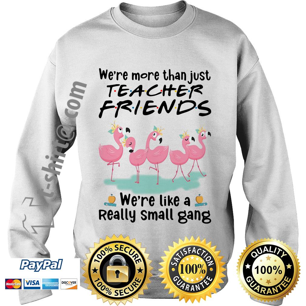 Flamingo we're more than just teacher friends we're are like a really small gang Sweater