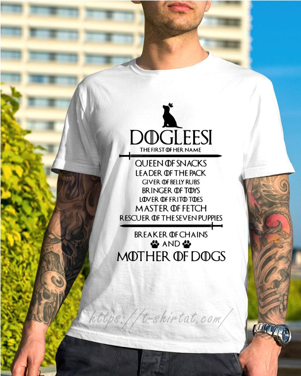 Game of Thrones Dogleesi queen of snacks leader of the pack mother of dogs shirt