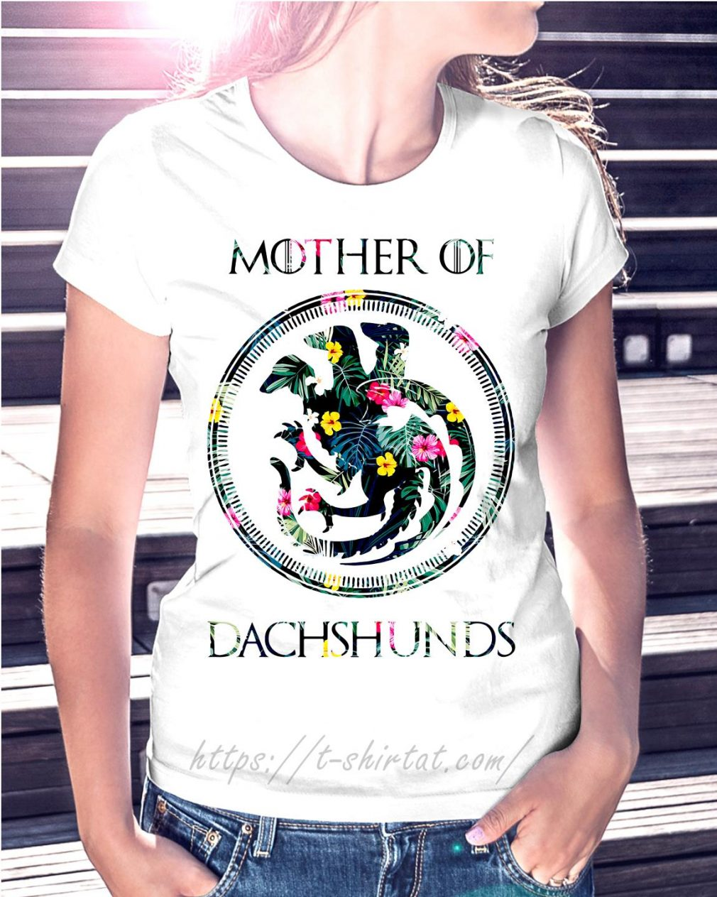 Game of Thrones mother of Dachshunds green flower