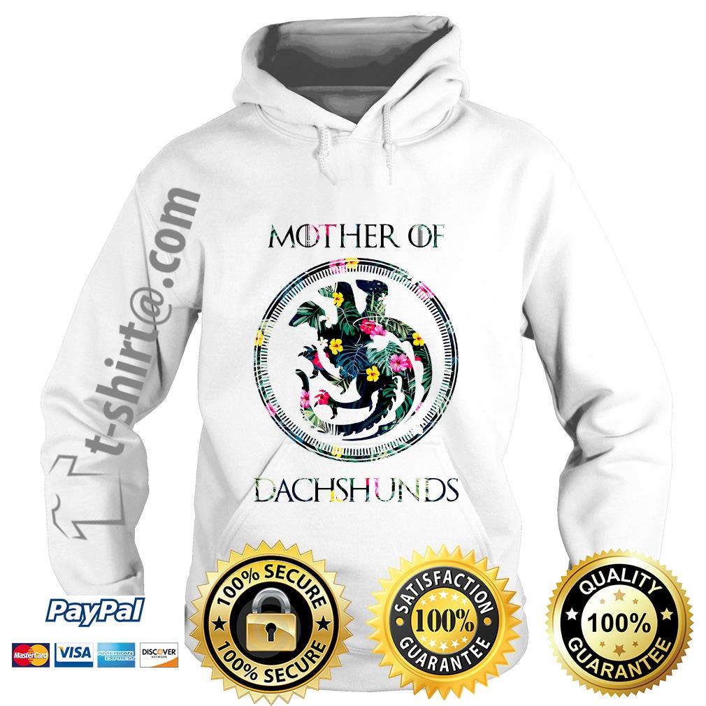 Game of Thrones mother of Dachshunds green flower Hoodie
