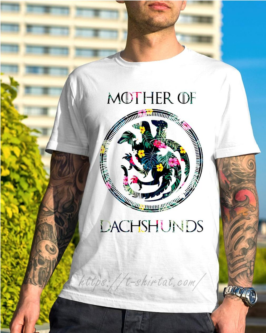 Game of Thrones mother of Dachshunds green flower shirt