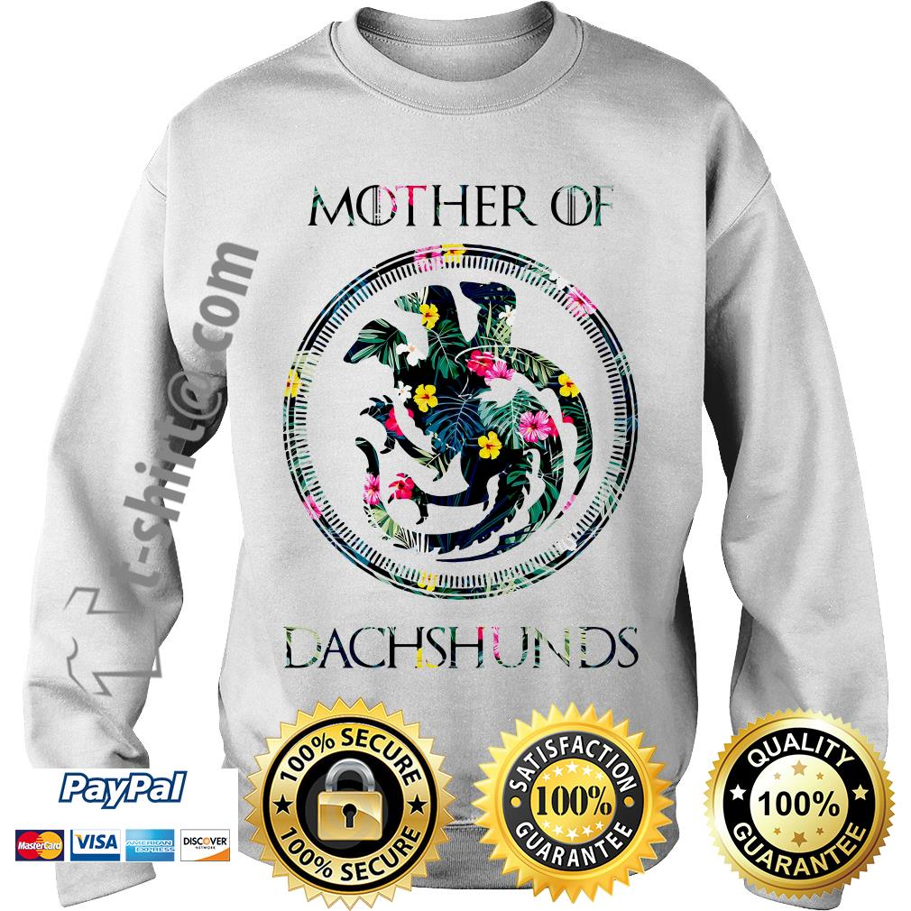 Game of Thrones mother of Dachshunds green flower Sweater
