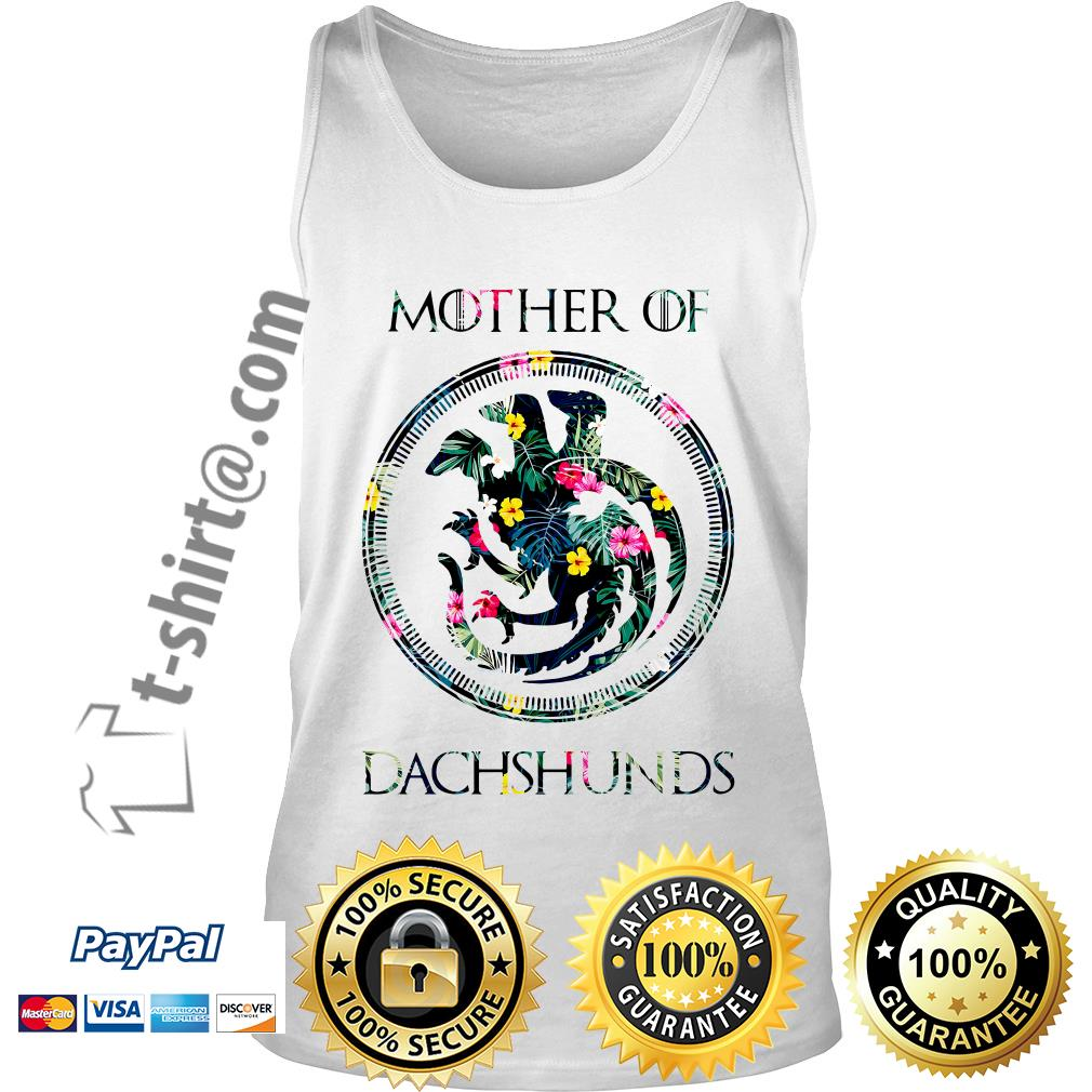 Game of Thrones mother of Dachshunds green flower Tank top