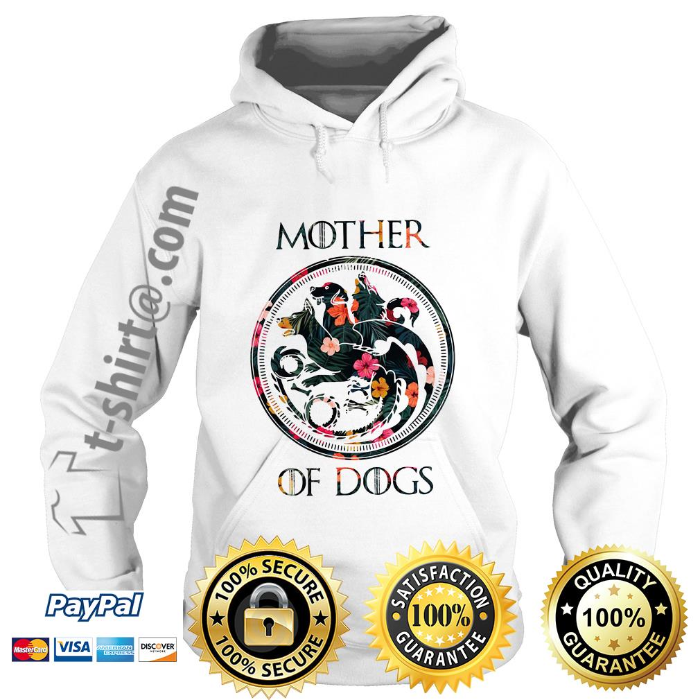 Game of Thrones mother of dogs green flower Hoodie