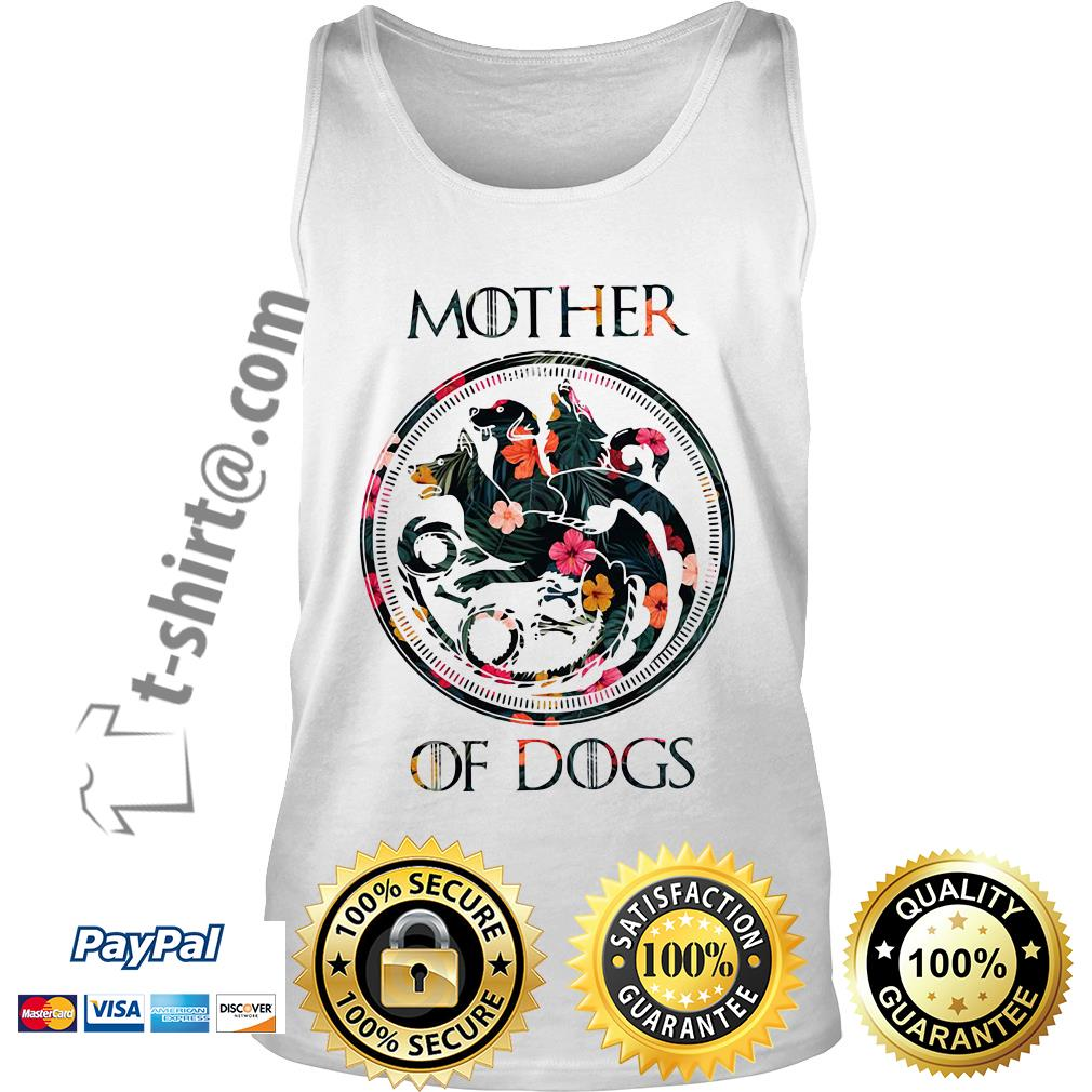 Game of Thrones mother of dogs green flower Tank top