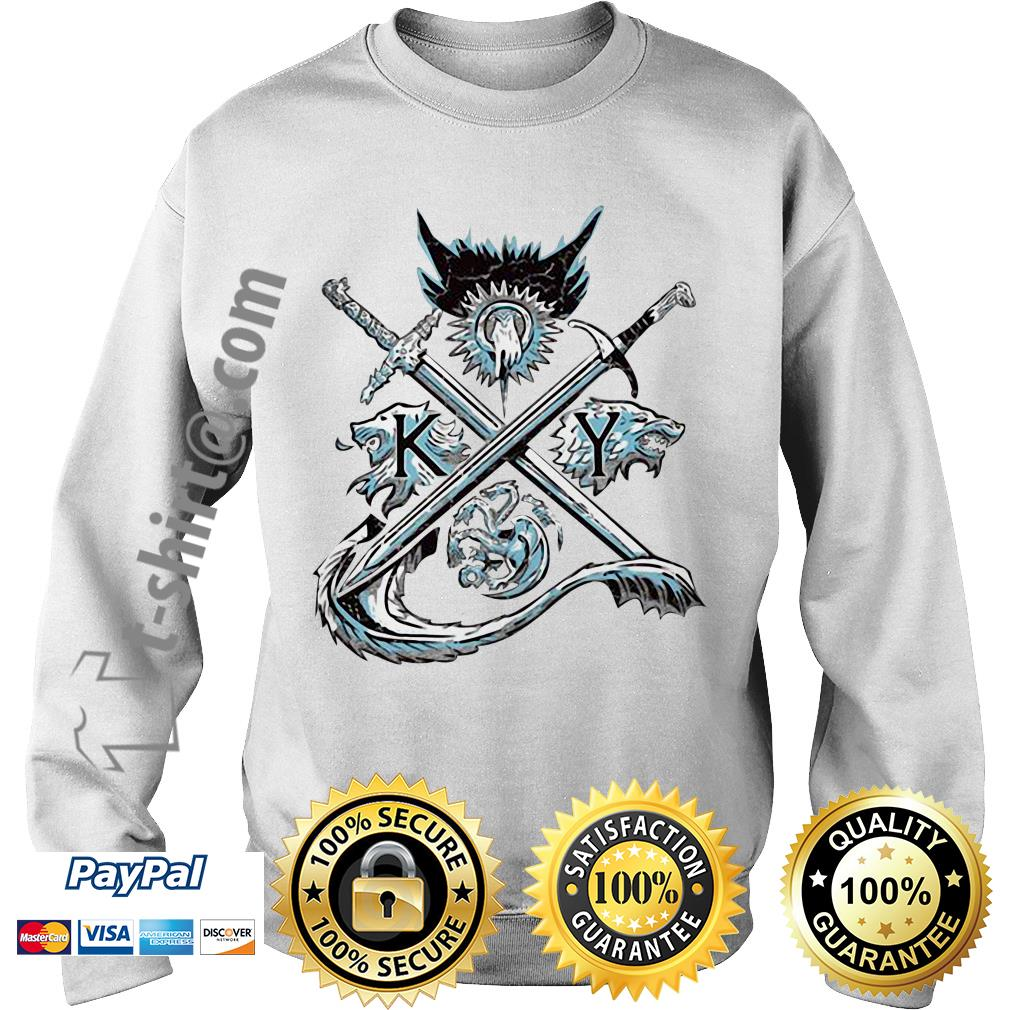 Game of Thrones house Lannister unbowed winter is coming and fire blood Sweater