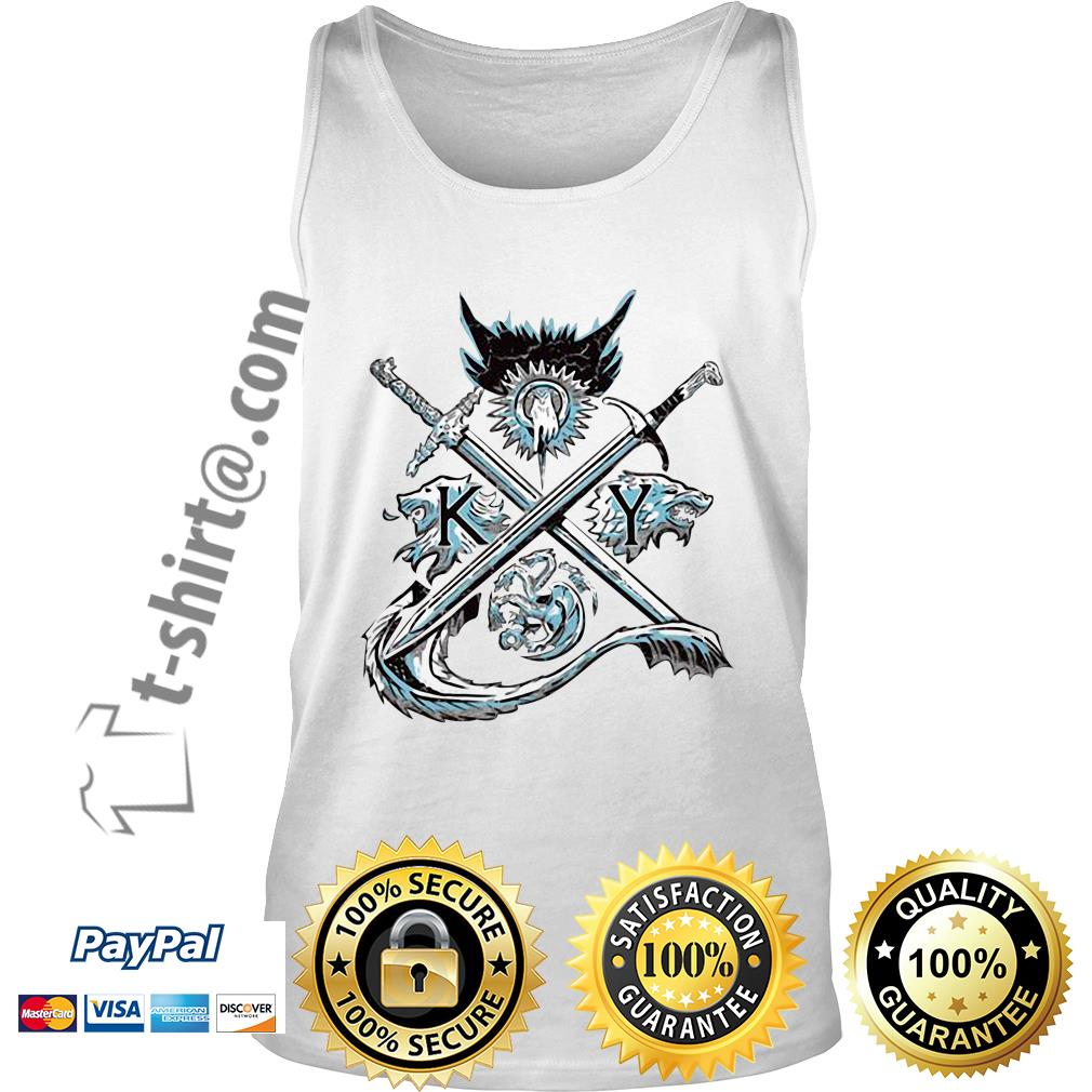 Game of Thrones house Lannister unbowed winter is coming and fire blood Tank top