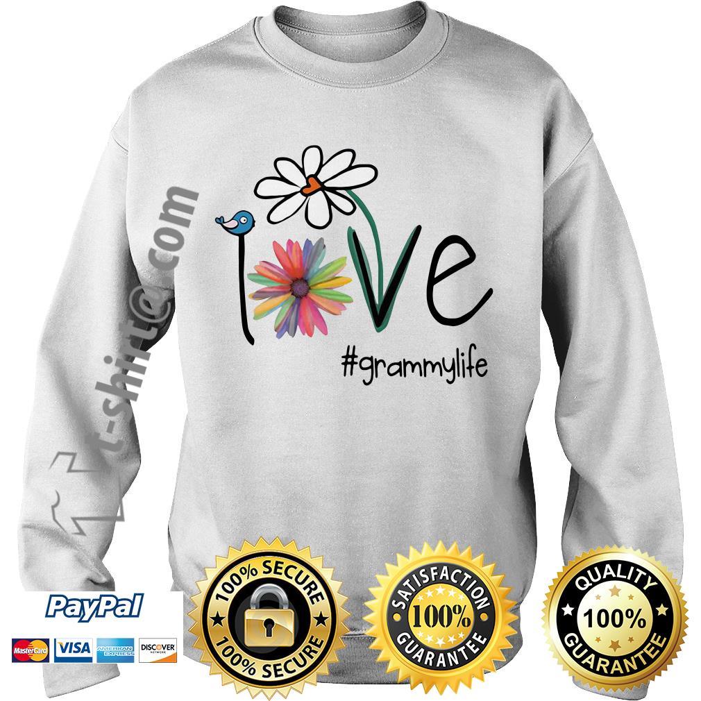Grammylife bird flower love Sweater