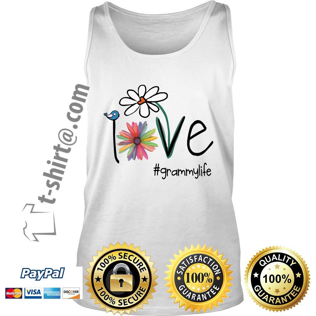 Grammylife bird flower love Tank top