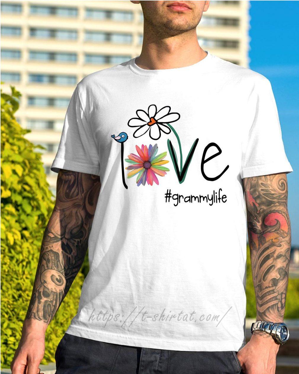 Grammylife bird flower love shirt