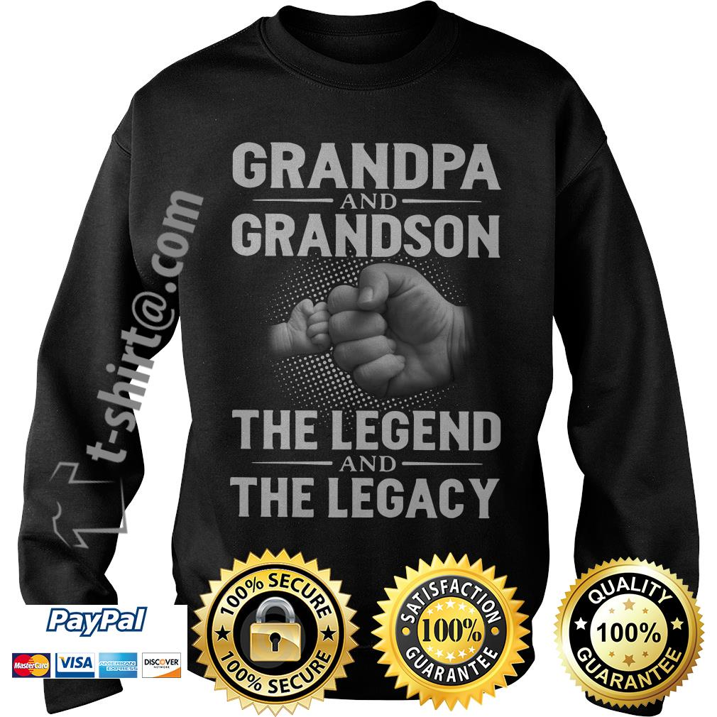 Grandpa and grandson the legend and the legacy Sweater