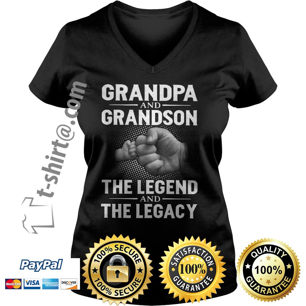 Grandpa and grandson the legend and the legacy V-neck T-shirt