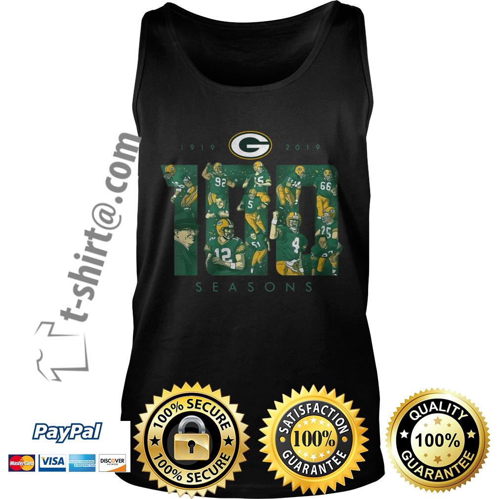 Green Bay Packers 100 seasons 1919-2019 Tank top