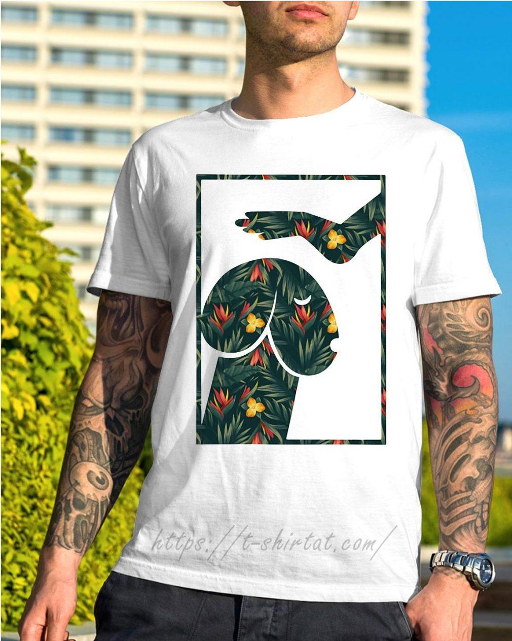 Green flower dickhead dog shirt