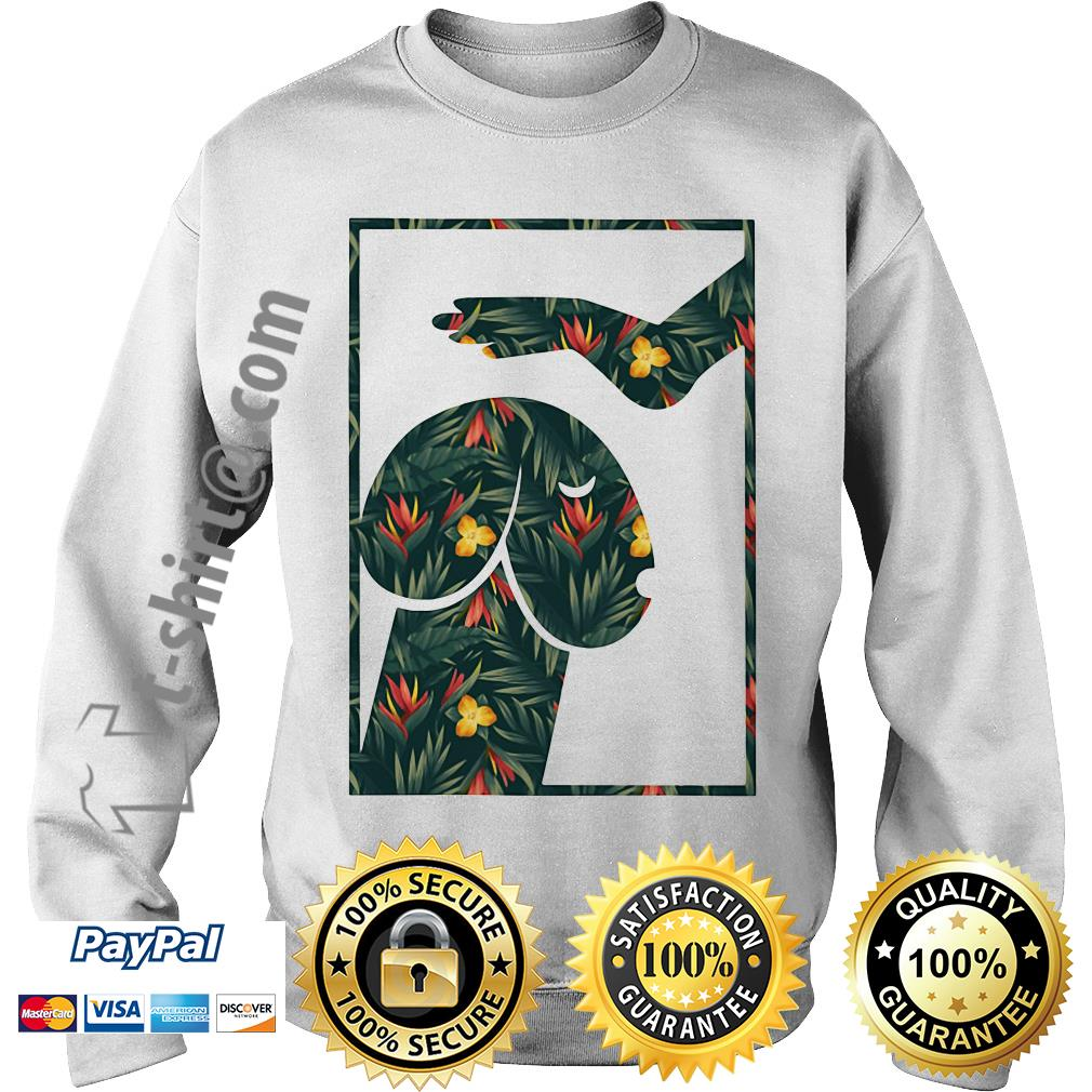 Green flower dickhead dog Sweater