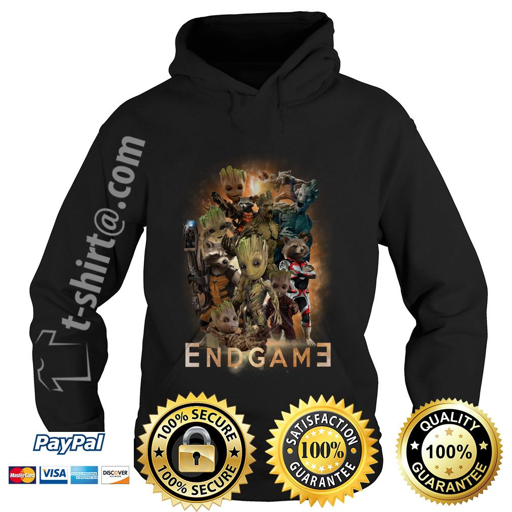 Groot and Rocket Marvel Avenger Endgame Guardians of the Galaxy poster Hoodie