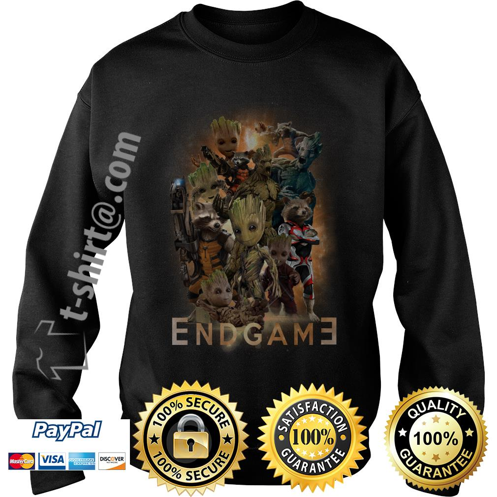 Groot and Rocket Marvel Avenger Endgame Guardians of the Galaxy poster Sweater