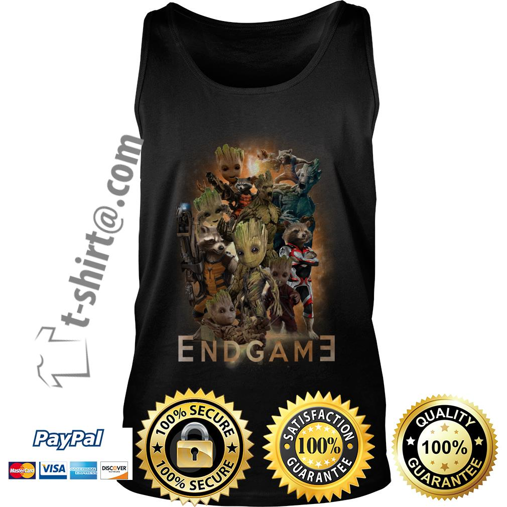 Groot and Rocket Marvel Avenger Endgame Guardians of the Galaxy poster Tank top