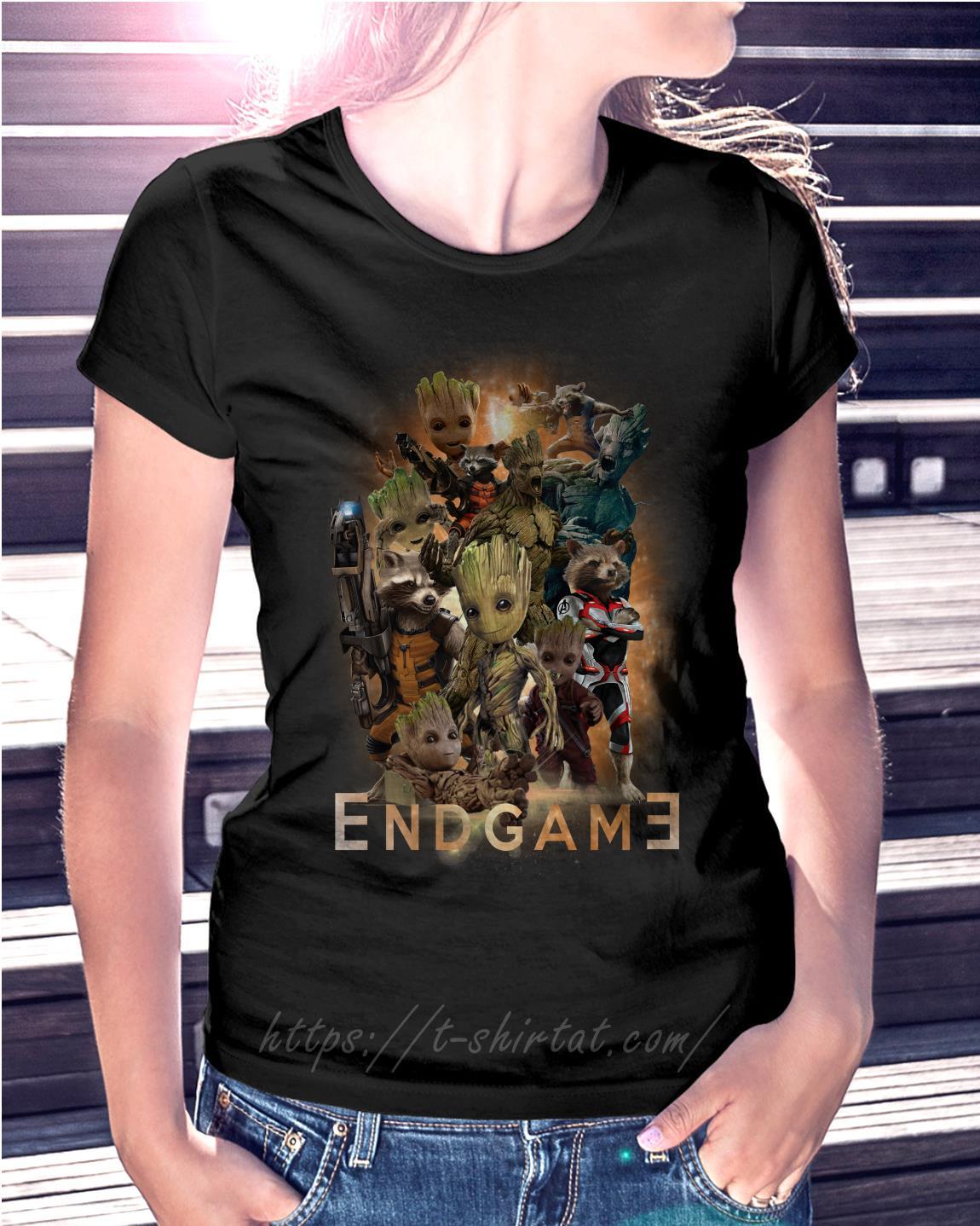 Groot And Rocket Marvel Avenger Endgame Guardians Shirt