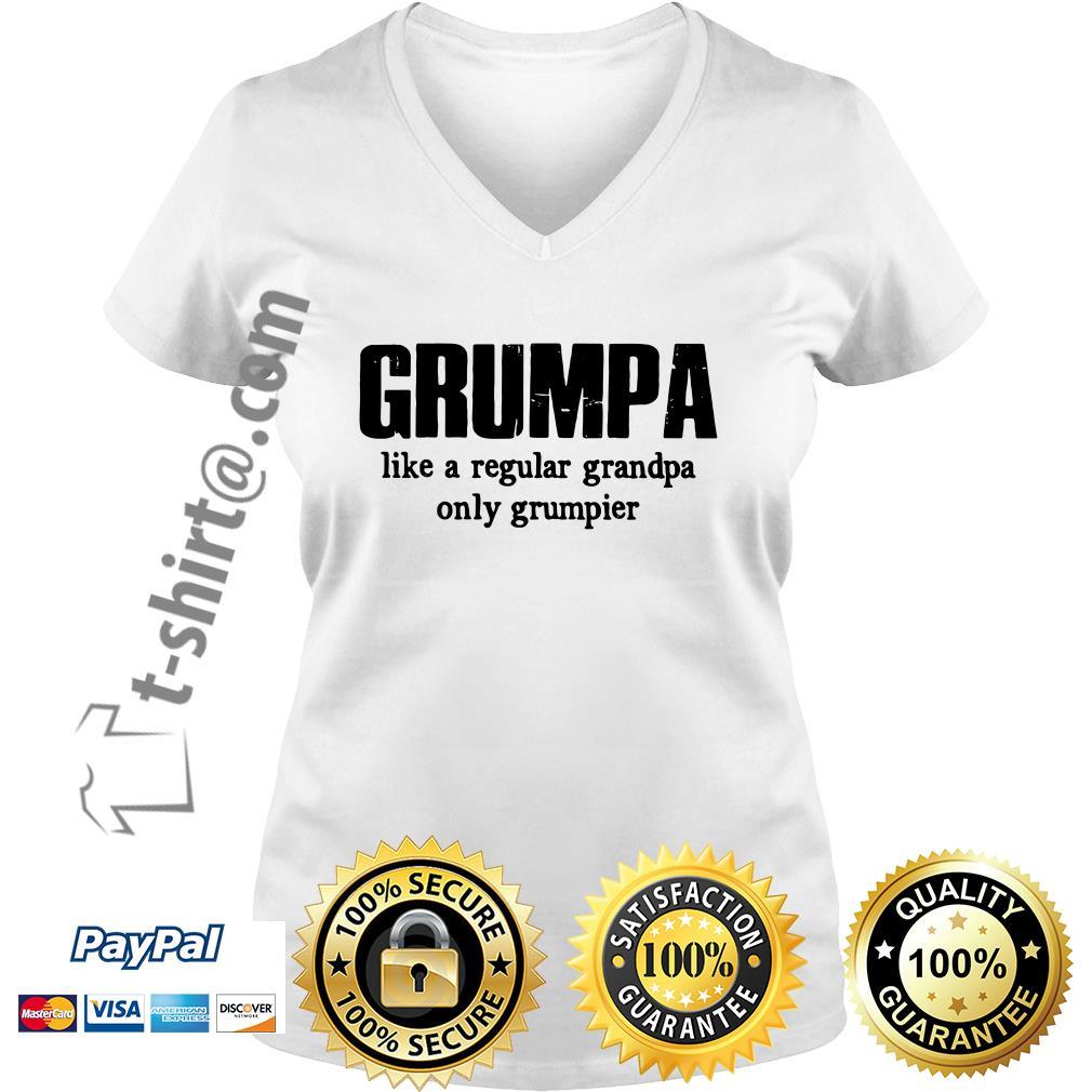 Grumpa like a regular grandpa only grumpier  V-neck T-shirt